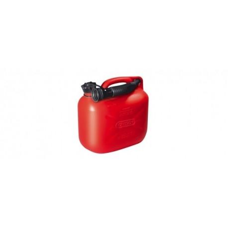 Kanystr 5 l, červená, s nalévacím hrdlem