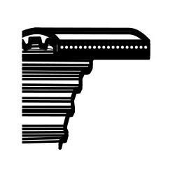 Pasek zębaty Castelgarden TC122, Honda HF2220H Stiga Estate 122 - napęd noży (1800DS8M25) (35065601 / CG35065601H0)