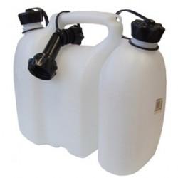 Kanystr na palivo 3L a olej 1,5L YUKON bílý s nalévacím hrdlem