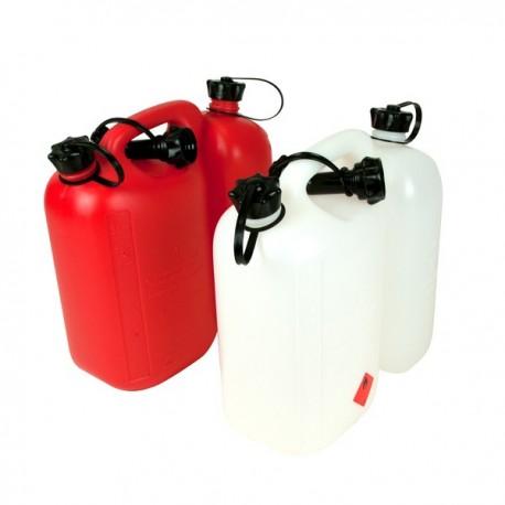 Kanystr na palivo 5L a olej 3L WAIPOUA bílý s nalévacím hrdlem