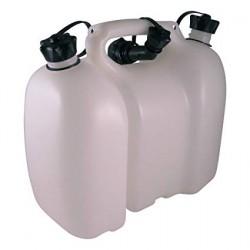 Kanystr na palivo 6L a olej 3L FIORDLAND bílý s nalévacím hrdlem