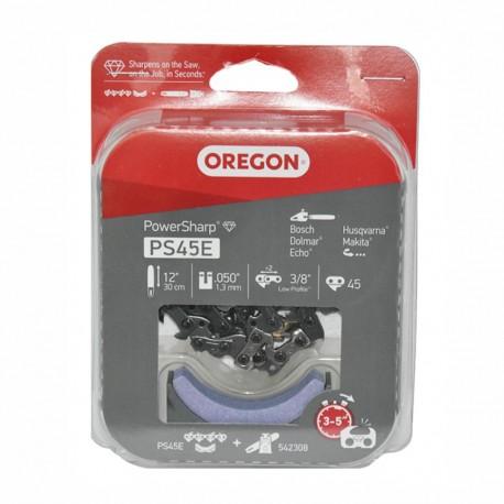 """Pilový řetěz PS45E PowerSharp 45 vodících článků 3/8"""" / 1,3mm + ostřící kámen"""